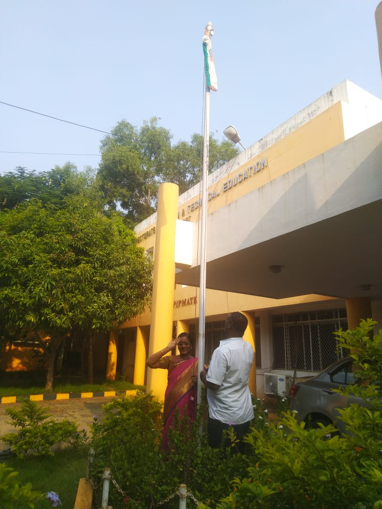 Flag Hoisting in PIPMATE on account of Puducherry Liberation Day on November 1st 2020